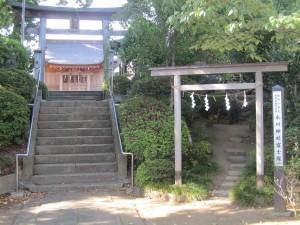 氷川神社と富士塚